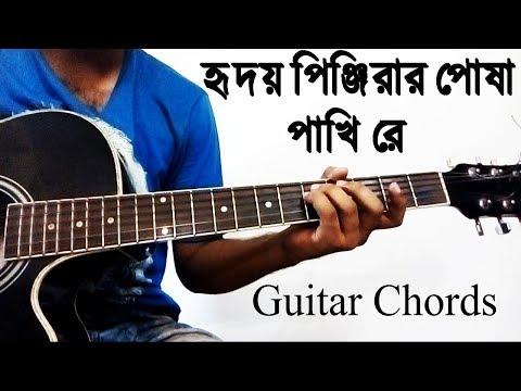 Hridoyo Pinjirar Posha Pakhi Re By Gaanpoka Guitar Chords