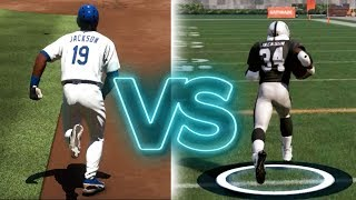 Can Bo Jackson Score A 99 Yard Touchdown Run Before He Can Get A Bunt Double In Baseball?