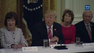President Trump Meets with GOP Senators for a Healthcare Roundtable 6-27-17