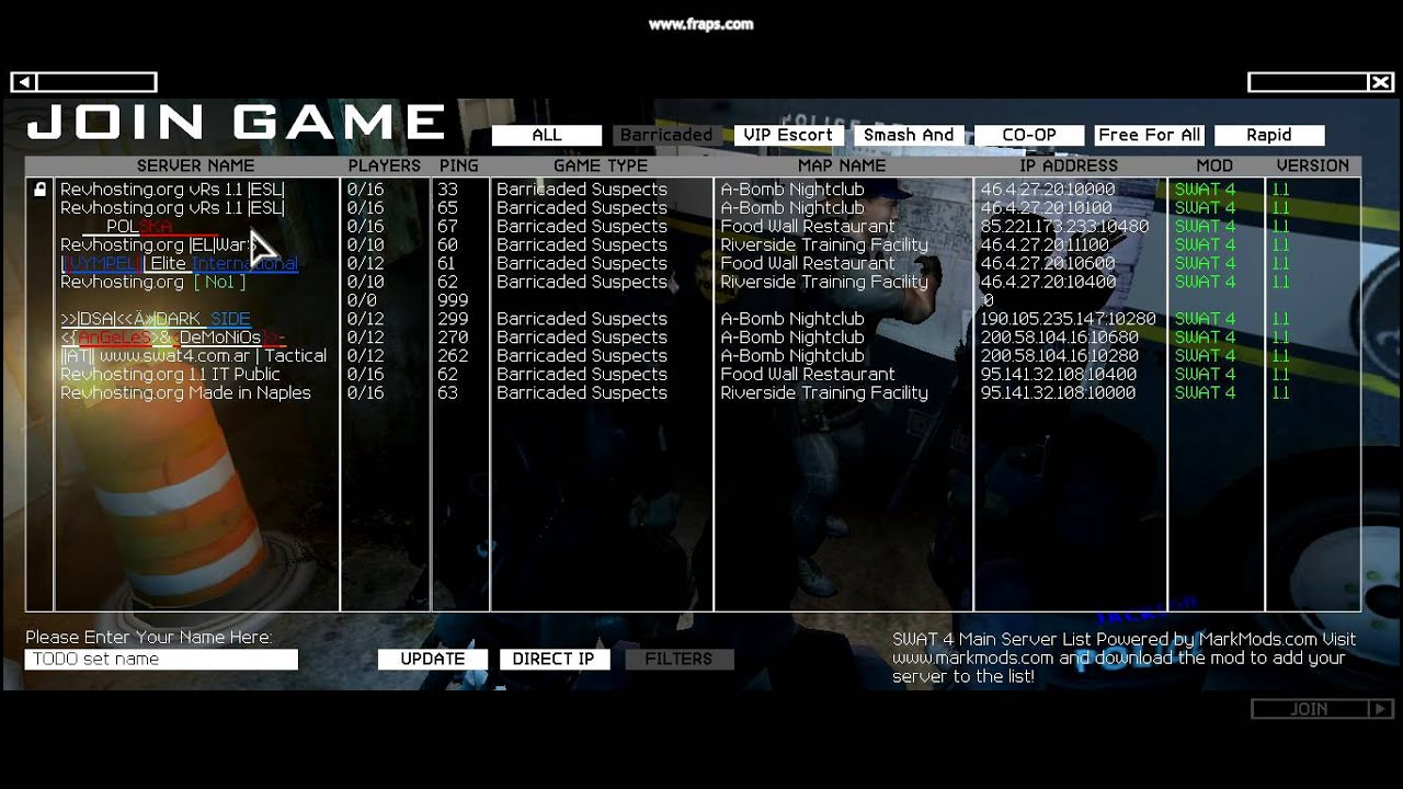 Swat 4 crack fix. SWAT 4 in-game server list patch by MarkMods.com.