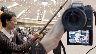 Drone shots without a drone! / Canon EOS M5 as vlogging camera at cosplayer event show thing