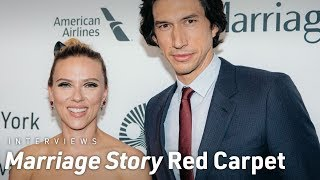 Marriage Story Red Carpet Interviews at the 57th NYFF
