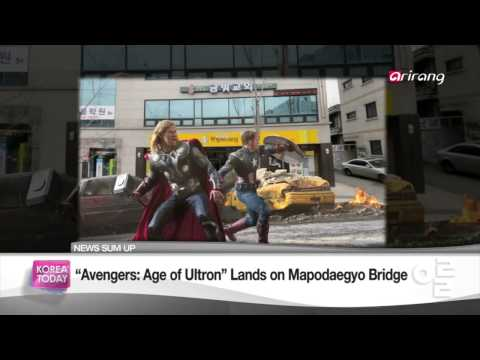 Korea Today - 'Avengers : Age of Ultron' Lands on Mapodaegyo Bridge 어벤져스2 마포대교 촬영