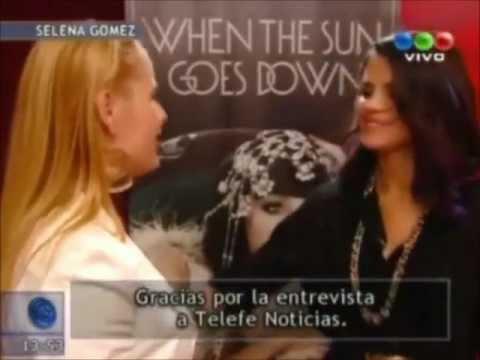 Selena Gomez en Telefé Noticias (Argentina) 2012