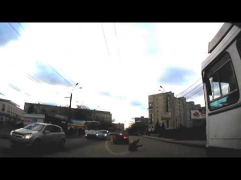 Наезд на пешехода. Н. Новгород ул. Просвещенская. 18.11.2013 г.