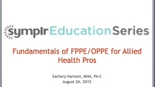 Webcast: Fundamentals of FPPE/OPPE for Allied Health Pros