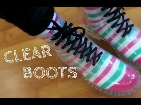 Сlear Boots / Прозрачные Резиновые Сапоги / Веселая Находка