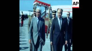 UNUSED 17 4 80 ALGERIA'S PRESIDENT CHADLI BENJEDID OFFICIAL VISIT TO TUNISIA