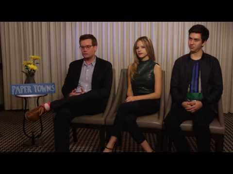 PAPER TOWNS Interview with John Green, Halston Sage & Nat Wolff