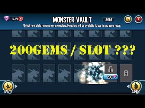 Monster Legends - Review Monster Vault :Need 20.000 gems to unlock all slot SP troll player