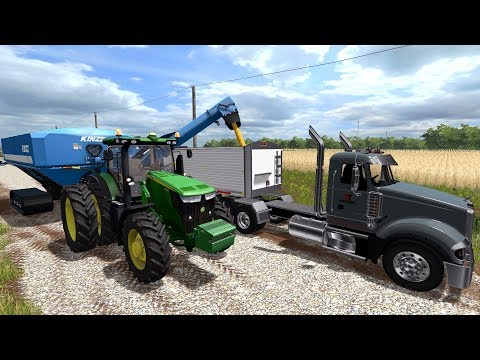 FARMING SIMULATOR 2017   PICKING & HAULING CORN WITH JD 7R & MACK SEMI   EP #3
