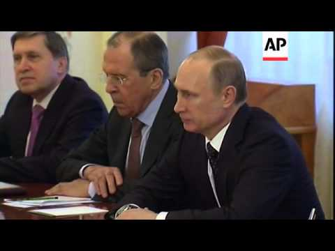 Russian President Vladimir Putin meets Field Marshal Abdel-Fattah el-Sissi