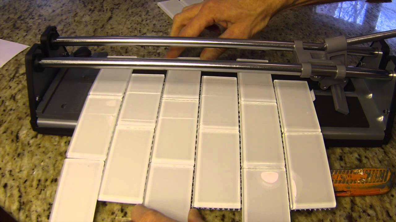 how to cut glass tile youtube