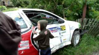 RALLY crash 24 RAJD KARKONOSKI 2009 CZERNICA