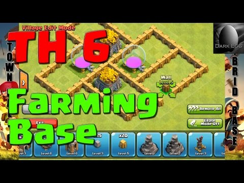 Clash of Clans: Town Hall 6 Farming Base (v 5.6)