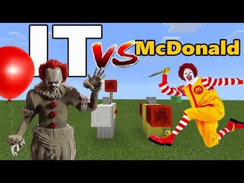 IT vs Ronald McDonald (Clown vs Clown)   Minecraft PE