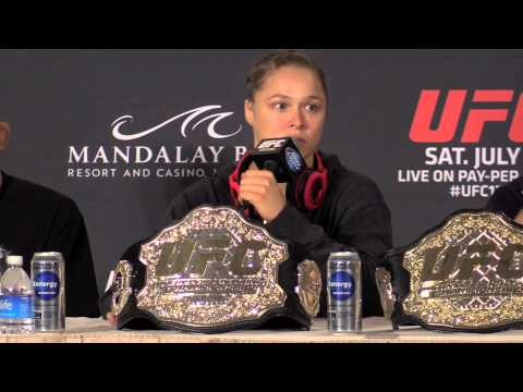 UFC 175 PostFight Press Conference Ronda Rousey