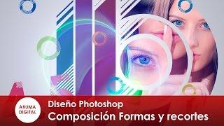 Photoshop 261 Composicion geométrica con recortes