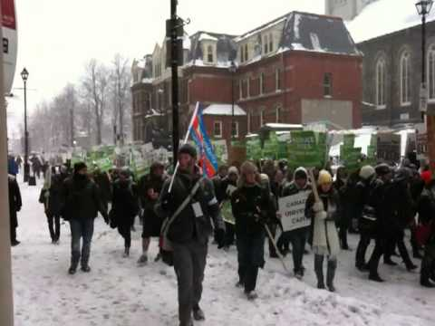 Feb 2 2011 - Halifax Student Protests Against Tuition Fees