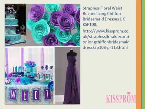[teal and purple bridesmaid dresses] Video