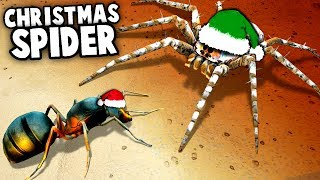 Arachnophobia! GIANT SPIDER vs Santa QUEEN ANT Colony! (Empires of the Undergrowth)