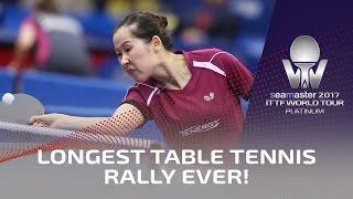 Longest Table Tennis Rally Ever! - Full