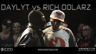 KOTD - Rap Battle - Daylyt vs Rich Dolarz