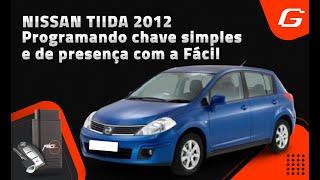 Programando chave simples e chave de presença no Nissan Tiida 2012 com a Fácil
