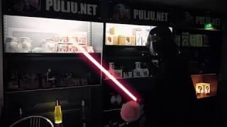 Darth Vader cleaning our shelves 2018 Pulju.net
