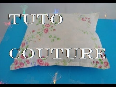 tuto couture housse de coussin et rev tement de couette youtube. Black Bedroom Furniture Sets. Home Design Ideas