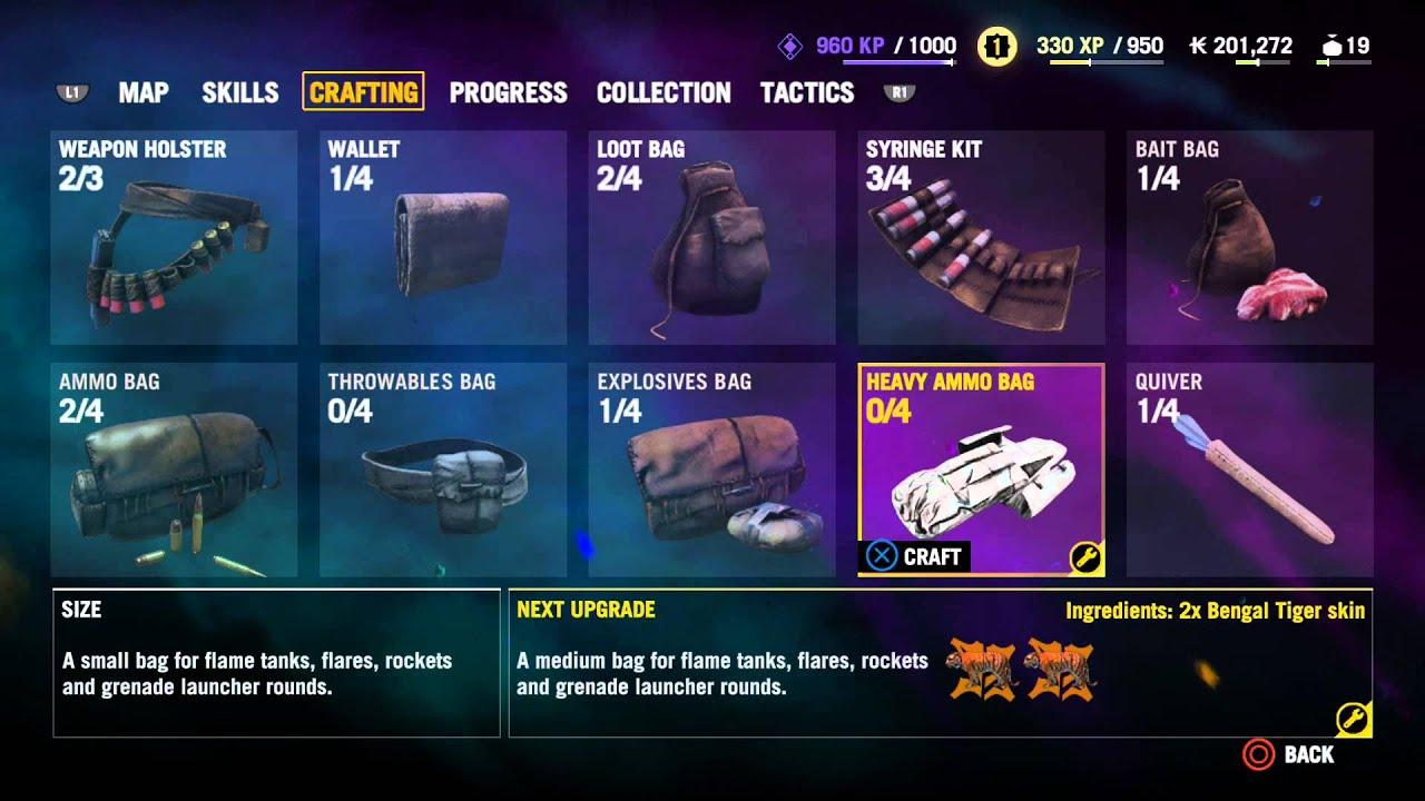Bengal Tiger Far Cry 4 Far Cry 4 Crafting Craft