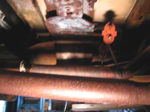 Rust Oleum Rust Converter applied to F150 bottom of frame, cab, and