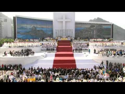 Missa De Envio - Ato Penitencial E GlÓria - Jmj Rio 2013 - Domingo 28 07 2013 video