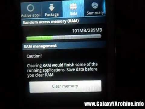 Simple RAM tweak for Samsung Galaxy Y