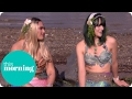 Two Real Life Mermaids Swim Up On The South Bank | This Morning