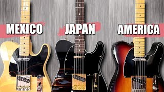 Mexican vs Japanese vs American! - Telecaster Tone Test!
