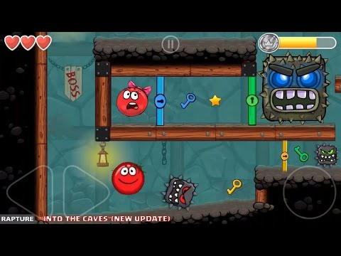 RED BALL 4 - 'INTO THE CAVES' Completed LEVEL 61-75 with Tomato Ball (New Update)