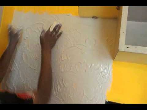 How to design a wall with white cement simple steps to for How to make designs in concrete