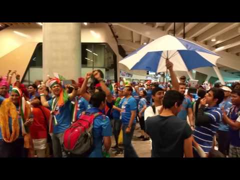 Post match celebration on Adelaide streets