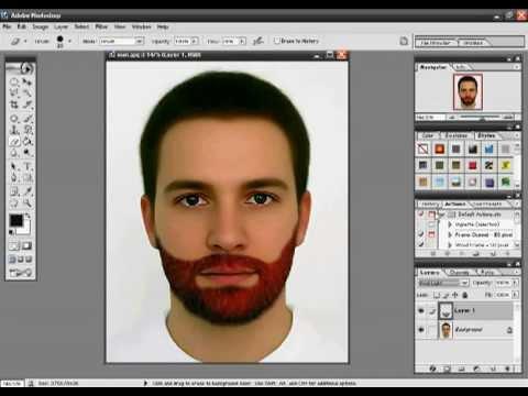 Making of Beard in Photoshop - Urdu Tutorial - YouTube