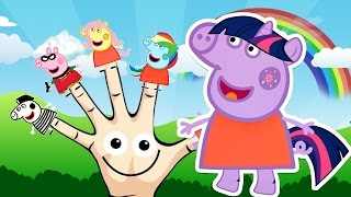 Peppa Pig Finger Family My Little Pony Equestria Girls Nursery Rhymes Lyrics Kids Songs