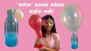 Bong Bóng - Bơm bong bóng kiểu mới - thổi bong bóng  - balloon for kids toys - Mắt to mắt nhỏ
