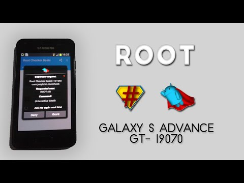 How to ROOT Galaxy S Advance GT-I9070 on Android Jelly Bean