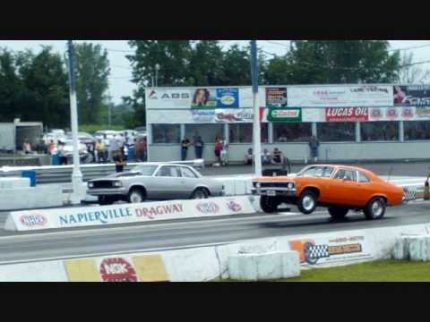 Veronique Labbe  Fast Train (car wheelies, burnout, drag race at Napierville Dragway)