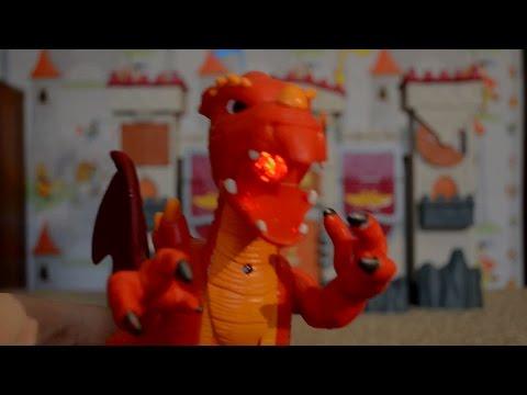Игровой замок от Fisher price и  Дракон.Обзор замка от Даника.Castle play/