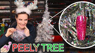 Decorating my Cristmas Tree with my Nail Peelies