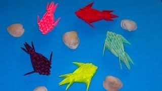 3D origami small fish master class (tutorial) for beginners