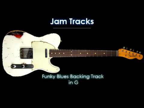 Funky Blues Backing Track in G