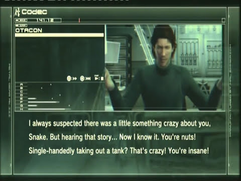 MGS4 - Funny Codec Easter Eggs (Part 1) - W*E GamingGuy118