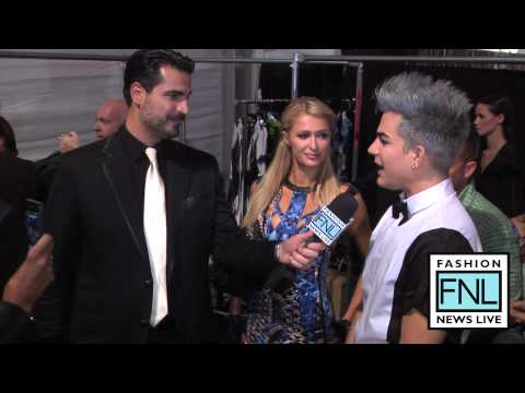 Paris Hilton and Adam Lambert Mercedes-Benz Fashion Week Spring Summer 2013